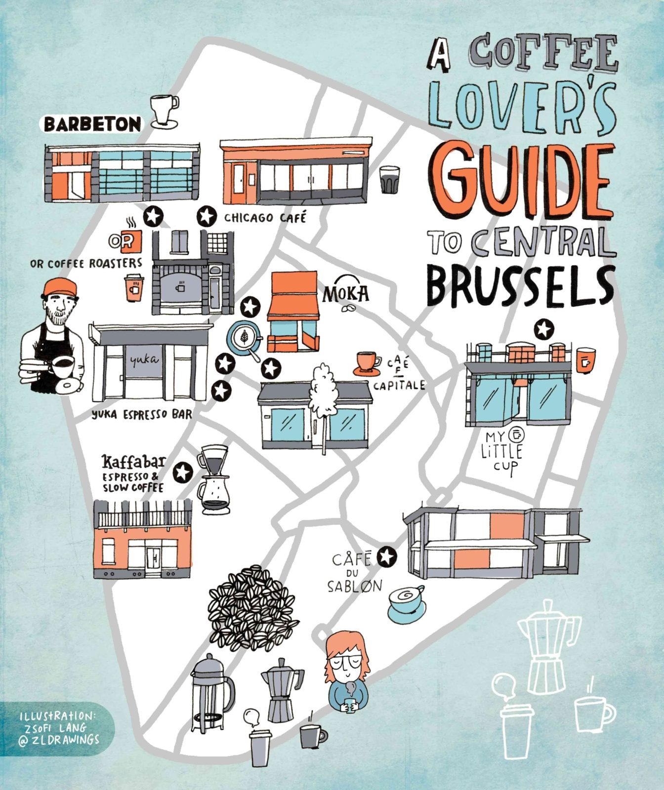 A coffee lovers guide to central Brussels MAP DOWNLOAD We Love