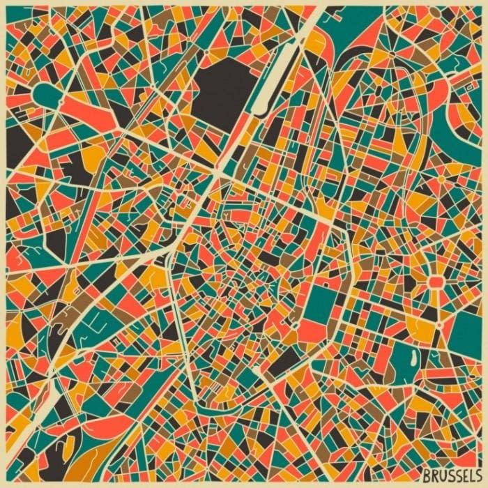 Giveaway: A print with the map of Brussels - We Love Brussels